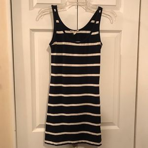 Forever 21 Navy and White Striped Mini Dress